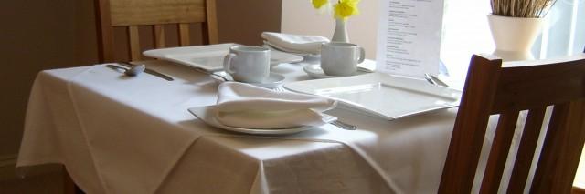 Melin Pandy breakfast table