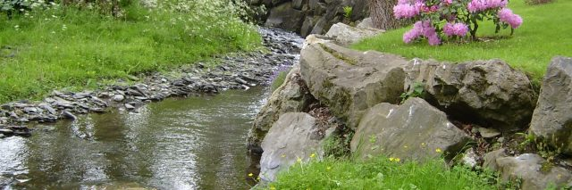 Stream outside Melin Pandy bed and breakfast