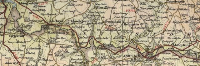 Newcastle Emlyn Old Map