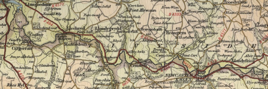 Newcastle Emlyn Old Map