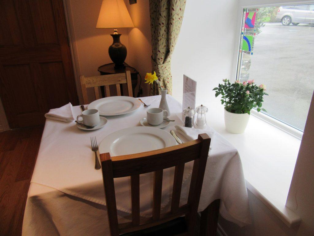 Breakfast table Melin Pandy Newcastle Emlyn