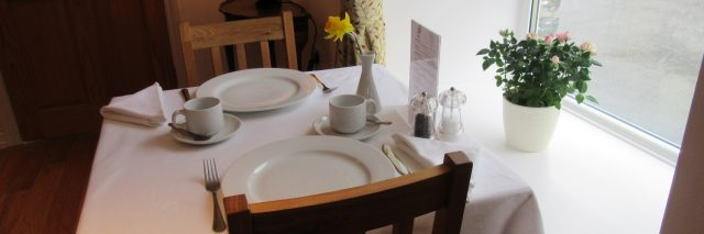 Breakfast table Melin Pandy Newcastle Emlyn